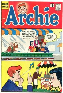 Archie Comics #151 1964-Hot dog cover- Betty & Veronica- Green monster story
