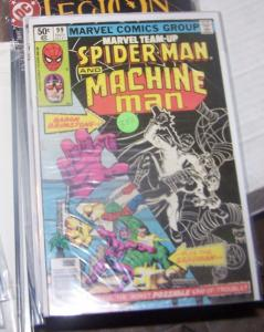 MARVEL TEAM UP  # 99  nov 1980 marvel  - spiderman and machine man sandman