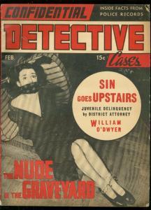 CONFIDENTIAL DETECTIVE CASES #1-FEB 1942-GRAVEYARD-PULP VG