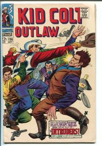 KID COLT OUTLAW #136 1967-MARVEL- WESTERN-BARROOM FIGHT COVER-WILD ONES-vg minus