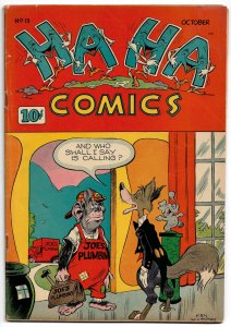 Ha Ha Comics #13 ★ Oct. 1944 ★ 8.O VFN! The Cadillac of Funny Animal Comics!