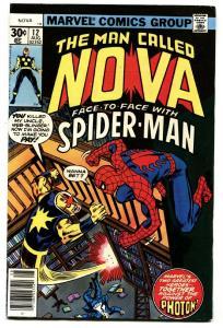 NOVA #12-Spider-Man comic book MARVEL BRONZE-AGE 1977