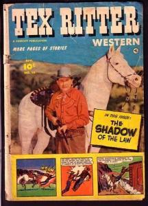TEX RITTER WESTERN #16-PHOTO COVER-FAWCETT PUBLISHING G