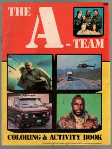 The A-Team Coloring Book 1988-George Peppard-Mr T-VG-