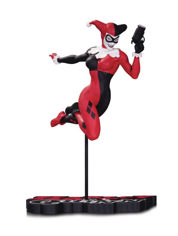 DC Harley Quinn Red White & Black Terry Dodson Statue - New!