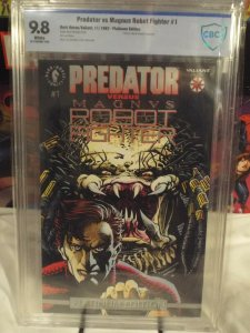 Predator vs Magnus Robot Fighter #1 - CBCS 9.8  1st Dark Horse/Valiant Crossover