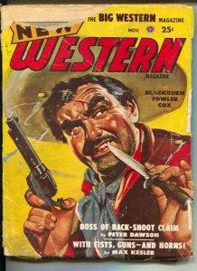 New Western 11/1948-Popular-pulp violence-Peter Dawson-Talmage Powell-G-