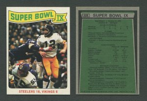 1975 Topps Football / Super Bowl IX #528 / NM-MT