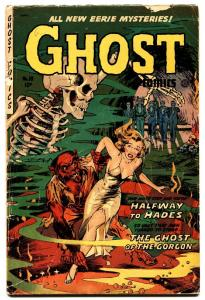 Ghost #10 1954 Fiction House-monster attack-Dr Drew.-pre-code horror comic