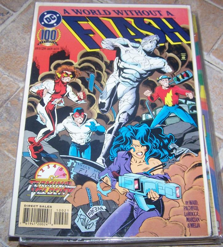 FLASH # 100 april 1995 dc  wally west  terminal velocity  final