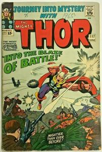 JOURNEY INTO MYSTERY#117  VG 1965 THOR MARVEL SILVER AGE COMICS