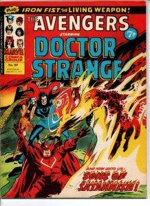 Avengers #69 - Dr Strange - Marvel UK - Magazine Size - 7p - 1975 - FN/VF