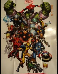 AVENGERS REVOLUTION Promo Poster, 24 x 36, 2012, MARVEL, CAPTAIN AMERICA Unused