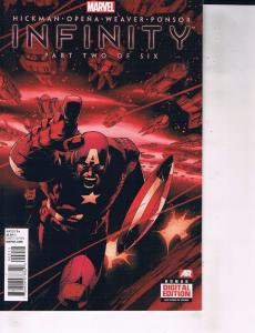 Lot Of 2 Comic Books Marvel Infinity #2 and #3 Thor Captain America ON9