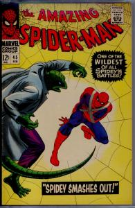 Amazing Spider-Man #45 CGC 8.5 Off-White/WHITE pages  3rd app. of The Lizard