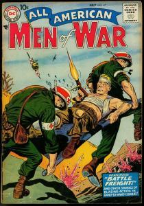 ALL-AMERICAN MEN OF WAR #47 1957-HEATH-KUBERT-M DRUCKER VG/FN
