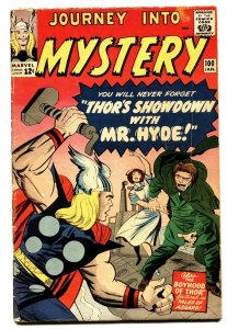 JOURNEY INTO MYSTERY #100 comic book 1963-THOR-MR HYDE-KIRBY-FOX