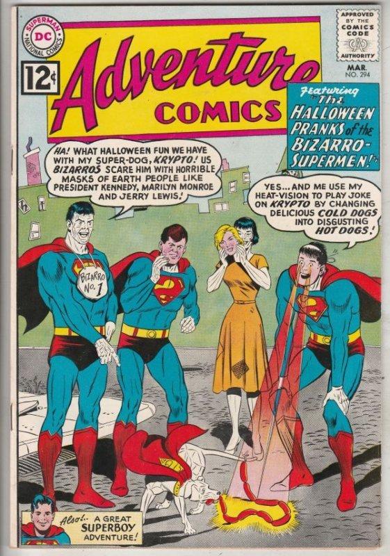 Adventure Comics #294 (Mar-62) NM- High-Grade Superboy