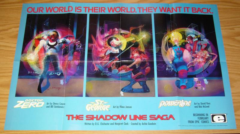 Epic Comics Shadow Line poster - 22 x 34 - bill sienkiewicz - doctor zero
