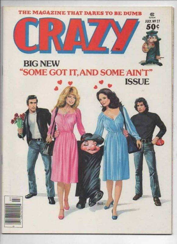 CRAZY #27 Magazine, VF+, Farrah Fawcett, Fonz, Travolta, 1973 1977,more in store