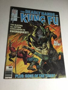 The Deadly Hands Of Kung Fu 30 Nm- Near Mint- Magazine