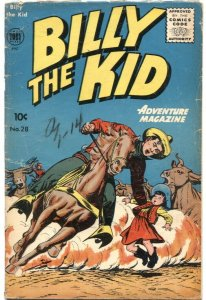 BILLY THE KID ADVENTURE #28---1955---DON HECK AND MIKE SEKOWSKY  ART