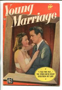 YOUNG MARRIAGE #1-1950-ELUSIVE-ONE SHOT-SOUTHERN STATES PEDIGREE-fn minus