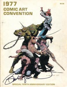 1977 COMIC ART CONVENTION Program, VG+, Signed Bernie Wrightson, 1st, sc, Berni