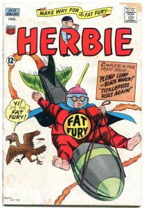HERBIE COMICS #10 1965-WILD ROCKET COVER-FAT FURY-ACG G/VG