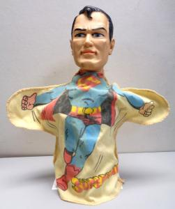 DC Comics SUPERMAN, 1965,Ideal Toy Corp,Toy,Hand Puppet,SM-P-H13,Doll,figure