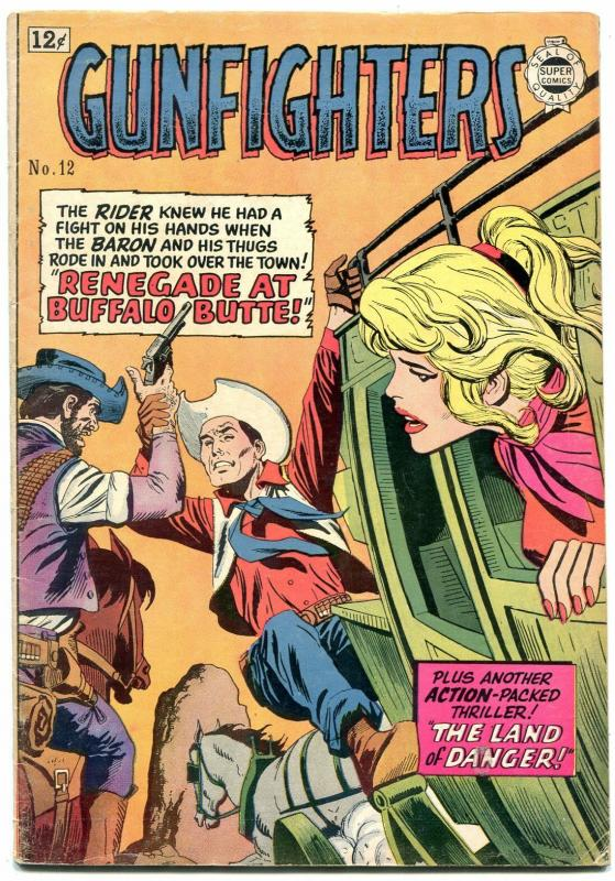 Gunfighters #12 1964- Golden Age Western comic Reprint - VG