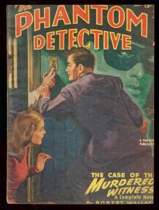 PHANTOM DETECTIVE SEPT 1947- CASE OF MURDERED WITNESS G