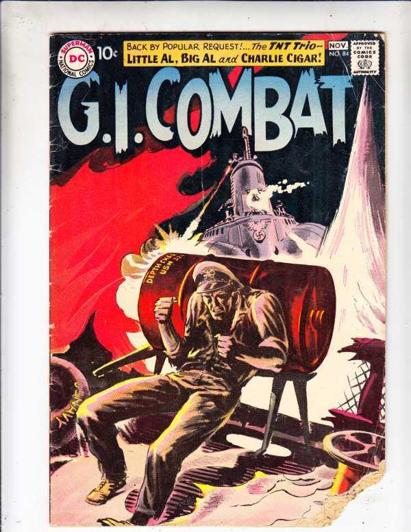 G.I. Combat #84 (Nov-60) FR/GD Low-Grade Big Al, Little Al and Charlie Cigar