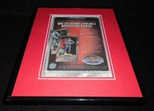 Superman 1994 Skybox Metal Cards Framed 11x14 ORIGINAL Vintage Advertisement