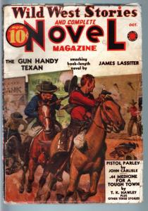 WILD WEST STORIES COMPLETE-1938 OCT-PULP-PISTOL PARLEY VG