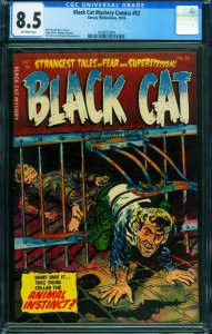 Black Cat Mystery #52 CGC 8.5 1954-Golden Age horror- 2000075004