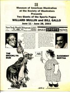 Museum of American Illustration Art Show Flyer 6/2003-Willard Mullin-Gallo-VG