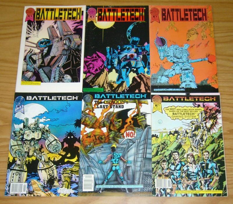 Battletech #1-6 VF/NM complete series - blackthorne comics set lot 2 3 4 5