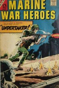 Marine War Heroes Vol 1 #17 Charlton Comic - The Undertaker - 1967 Silver Age VG