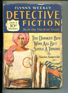 FLYNN'S WEEKLY DETECTIVE FICTION-JAN 7 1928-MYSTERY-DONKEY BOY-WARE-good minus
