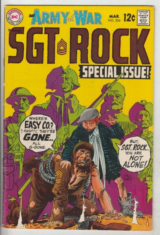 Our Army at War #204 (Mar-69) VF/NM High-Grade Easy Company, Sgt. Rock