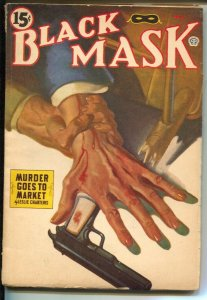 Black Mask 5/1944-Popular-Leslie Charters-The Saint-pulp mystery-hardboiled-VG-