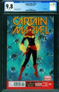 Captain Marvel #6 CGC 9.8 Mohawk cover-2014 2015338014