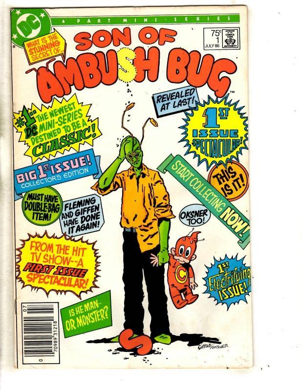 Lot Of 5 Son Of Ambush Bug DC Comic Books # 1 2 2 3 4 Mini Series JG7