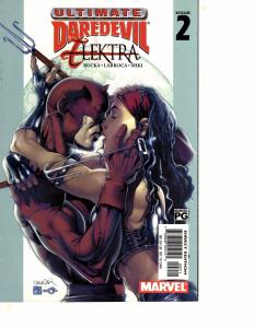 Lot Of 3 Ultimate Daredevil Elektra Marvel Comic Book #2 3 4   BH52