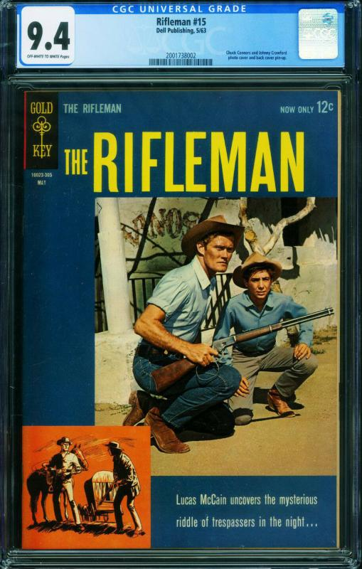 Rifleman #15 CGC 9.4 Chuck Connors 1963 Dell-2001738002