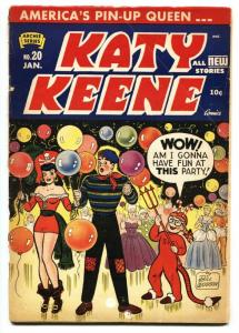 Katy Keene #20 1955- Archie comics- Costume party-Rare reading copy