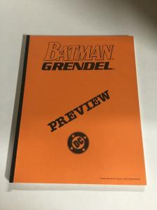 Batman Grendel 1 Preview 1990 Nm Near Mint DC Comics B6