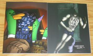 Lot of (2) Gunshow TPBs - duck party - rad tats - set 3 4 topatoco - KC Green