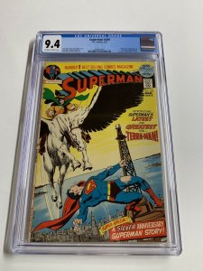Superman 249 Cgc 9.4 Ow/w Pages Dc Comics Bronze Age